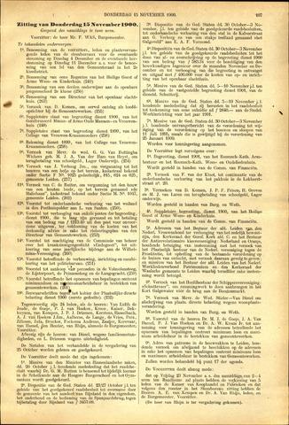 Handelingen van de Raad 1900-11-15