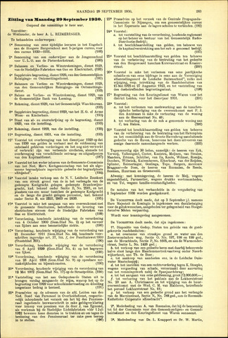 Handelingen van de Raad 1930-09-29