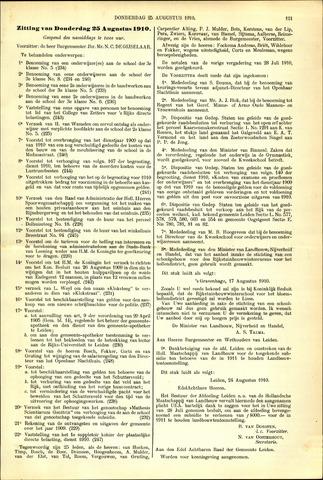 Handelingen van de Raad 1910-08-25