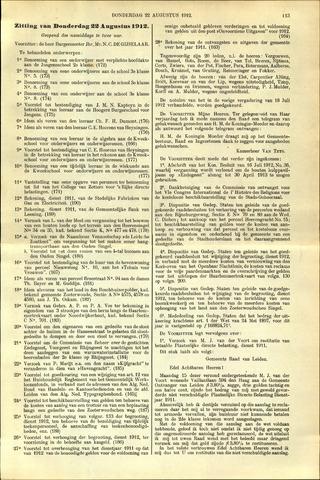 Handelingen van de Raad 1912-08-22