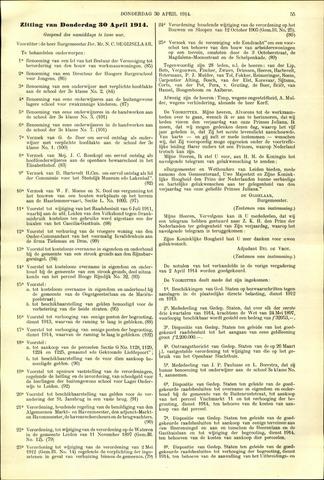 Handelingen van de Raad 1914-04-30