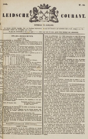 Leydse Courant 1885-01-13