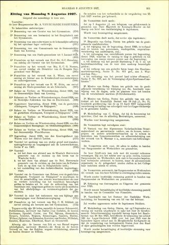 Handelingen van de Raad 1927-08-08
