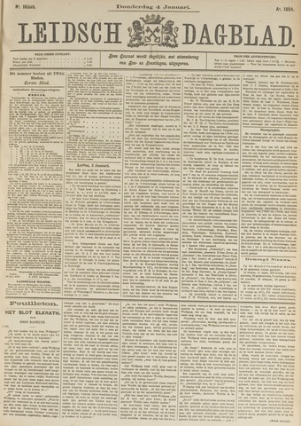 Leidsch Dagblad 1894-01-04