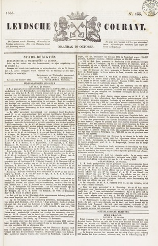 Leydse Courant 1865-10-30