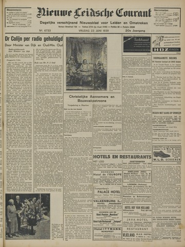Nieuwe Leidsche Courant 1939-06-23