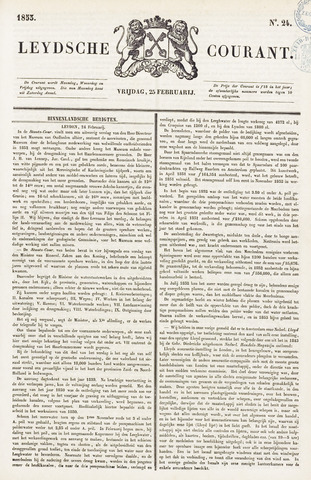 Leydse Courant 1853-02-25
