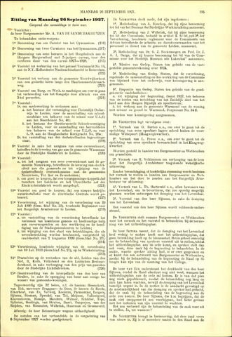 Handelingen van de Raad 1927-09-26