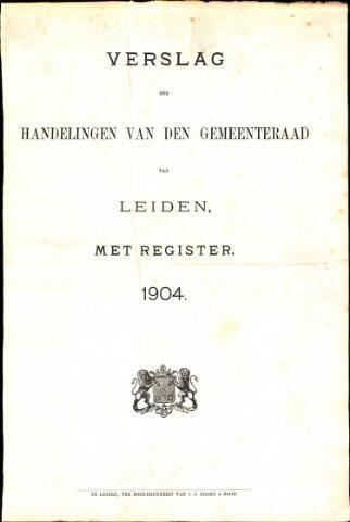 Handelingen van de Raad 1904-01-01