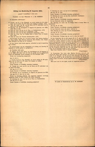 Handelingen van de Raad 1885-08-27