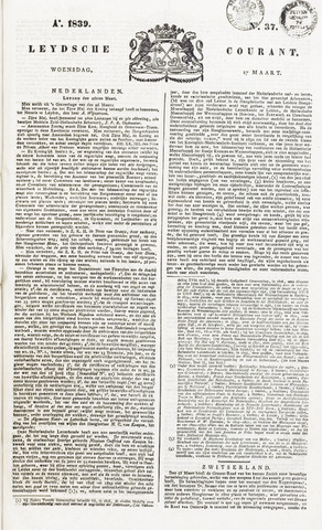 Leydse Courant 1839-03-27