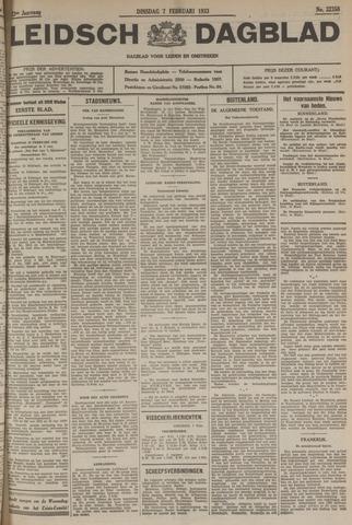 Leidsch Dagblad 1933-02-07