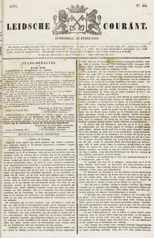 Leydse Courant 1871-02-23