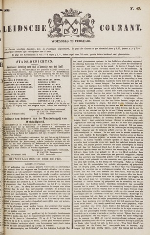 Leydse Courant 1884-02-20