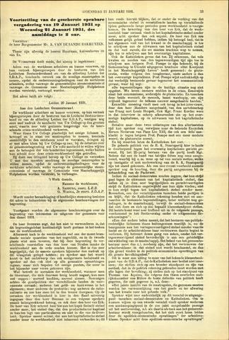 Handelingen van de Raad 1931-01-21