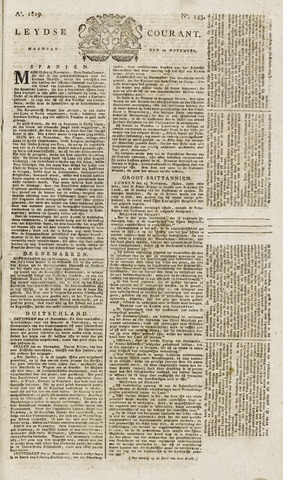 Leydse Courant 1819-11-29