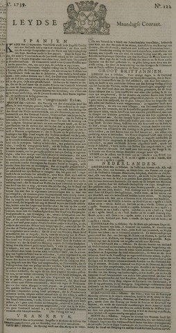 Leydse Courant 1739-10-12