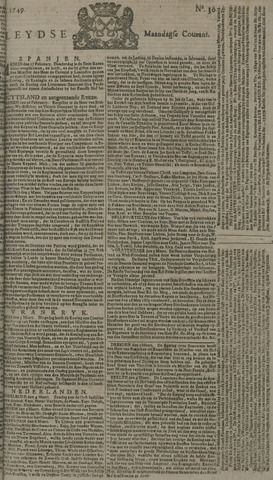 Leydse Courant 1749-03-10