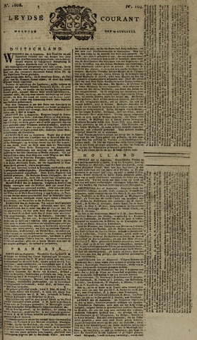 Leydse Courant 1808-08-29