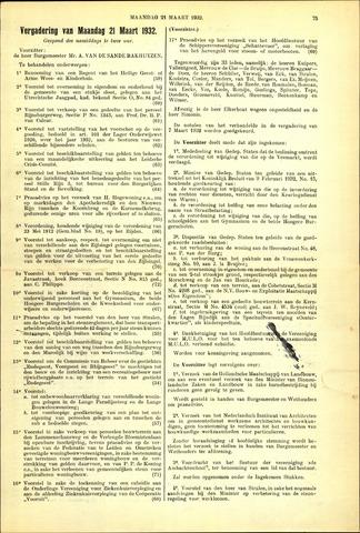 Handelingen van de Raad 1932-03-21