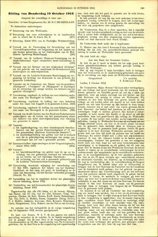 Handelingen van de Raad 1912-10-10