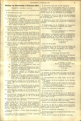 Handelingen van de Raad 1917-02-01