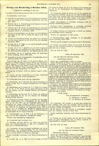 Handelingen van de Raad 1914-10-01