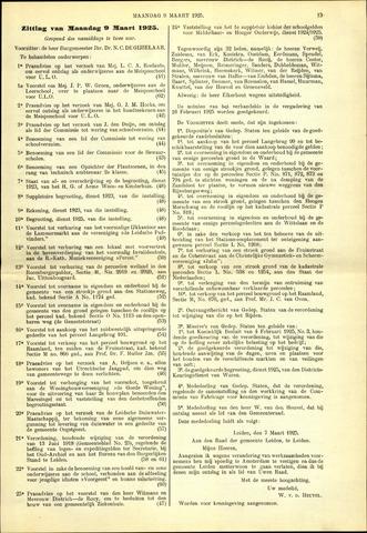 Handelingen van de Raad 1925-03-09