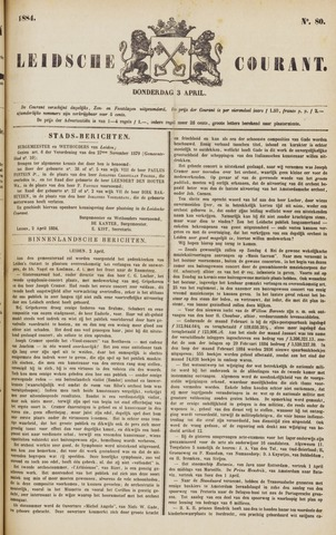 Leydse Courant 1884-04-03
