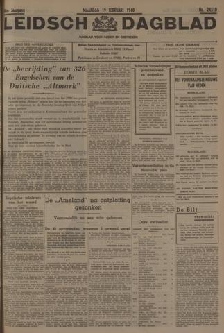Leidsch Dagblad 1940-02-19