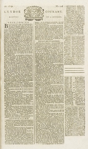 Leydse Courant 1819-09-27