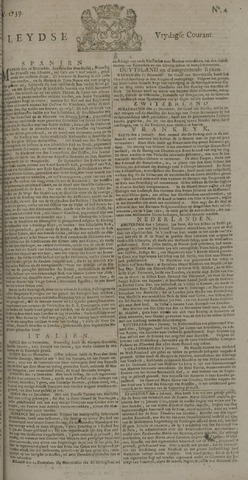 Leydse Courant 1739-01-09