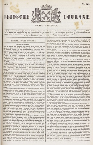 Leydse Courant 1876-11-07