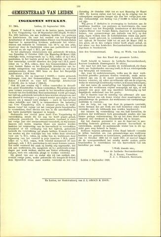 Handelingen van de Raad 1926-09-21