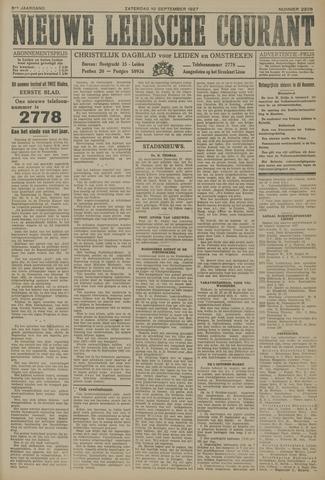 Nieuwe Leidsche Courant 1927-09-10