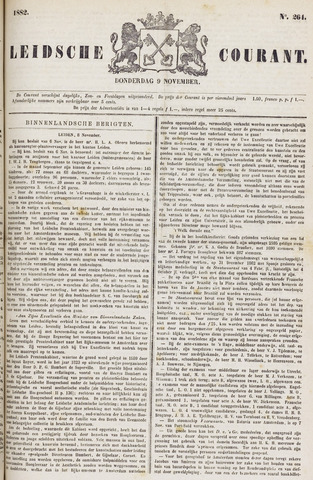 Leydse Courant 1882-11-09