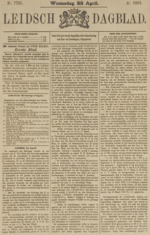 Leidsch Dagblad 1885-04-22