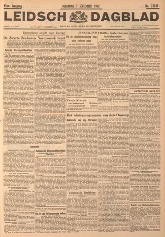 Leidsch Dagblad 1942-09-07