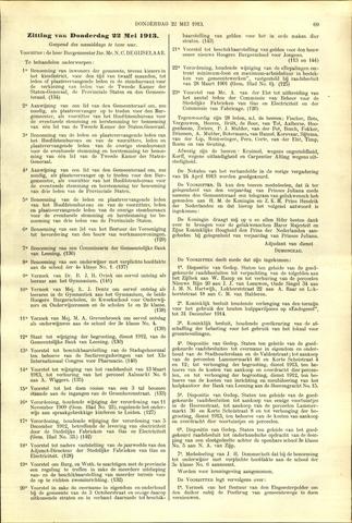 Handelingen van de Raad 1913-05-22