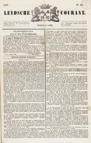 Leydse Courant 1869-04-09