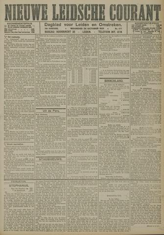 Nieuwe Leidsche Courant 1921-10-24