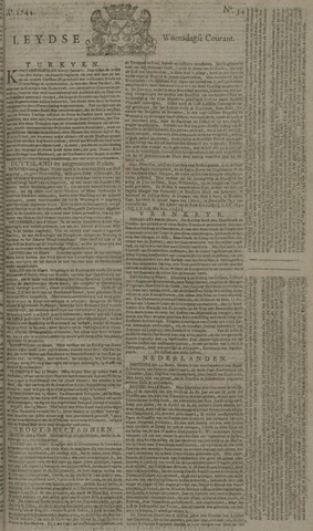 Leydse Courant 1744-03-18