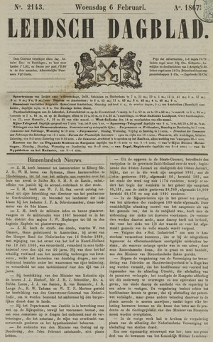 Leidsch Dagblad 1867-02-06