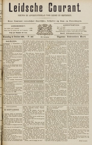 Leydse Courant 1885-10-21