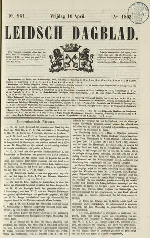 Leidsch Dagblad 1863-04-10