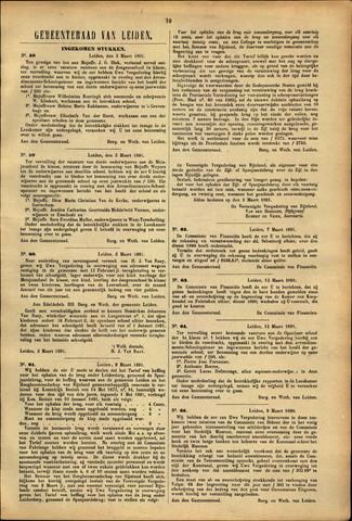 Handelingen van de Raad 1891-03-03