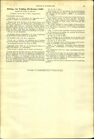 Handelingen van de Raad 1897-10-29