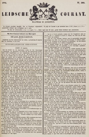 Leydse Courant 1884-08-25