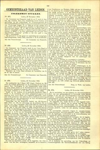 Handelingen van de Raad 1912-11-27