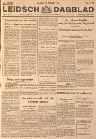 Leidsch Dagblad 1942-02-16